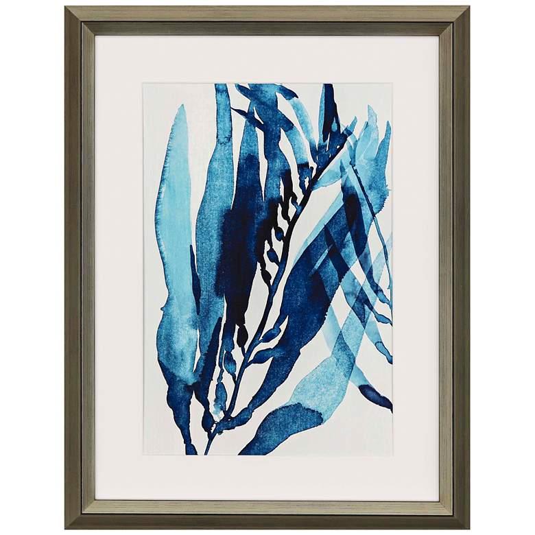 """Blue Drift II 42"""" High Framed Giclee Wall Art"""