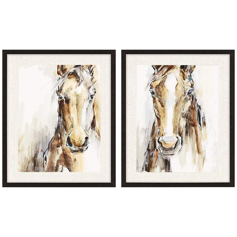 "Gift Horse 30"" High 2-Piece Framed Giclee Wall Art Set"
