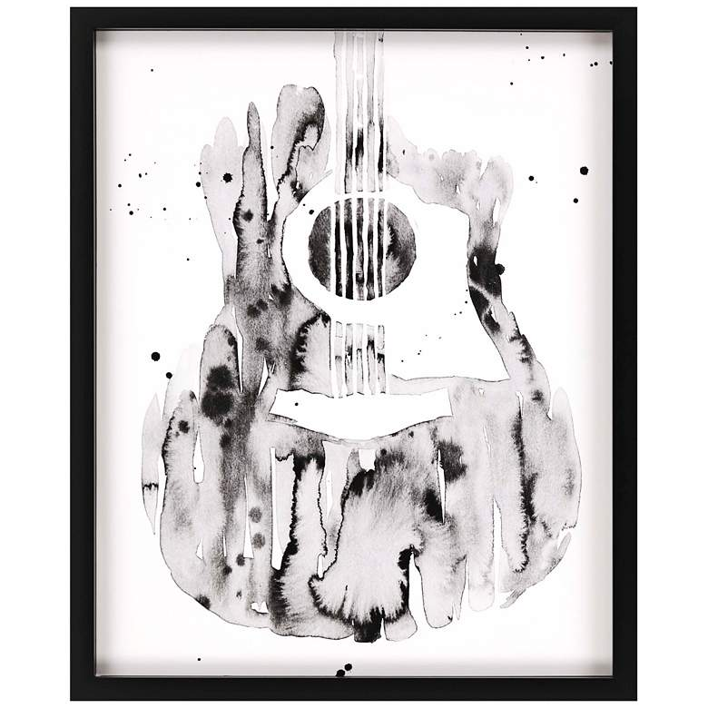"Guitar Flow III 43"" High Framed Giclee Wall Art"