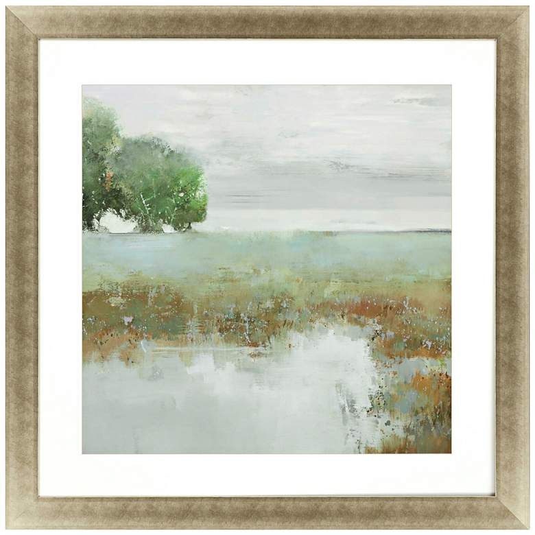 "Trees and Creek I 42"" Square Framed Giclee Wall Art"