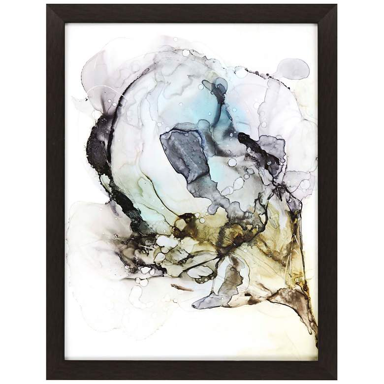 """Blooming Neutrals I 41"""" Wide Framed Giclee Wall Art"""