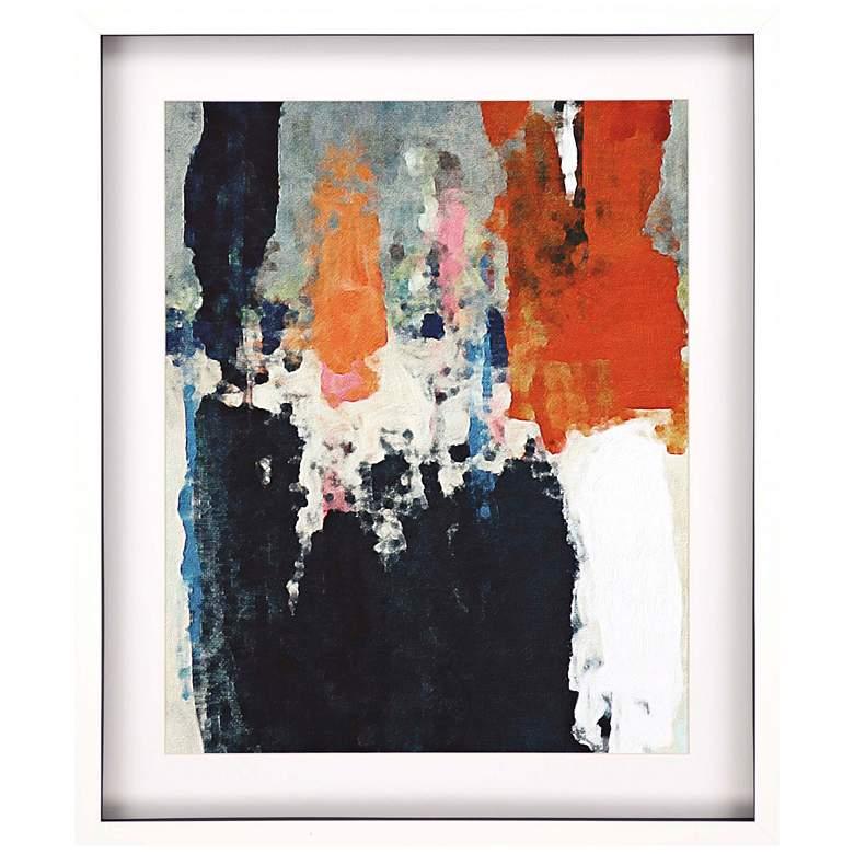 """Orange Crush III 38"""" High Framed Giclee Wall Art"""