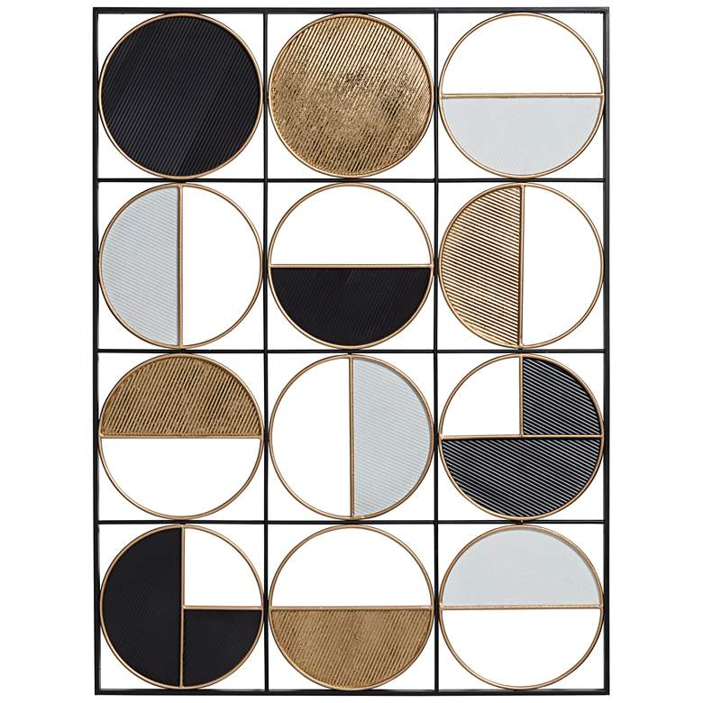 "Half Circle 40"" High Multi-Color Metal Wall Art"