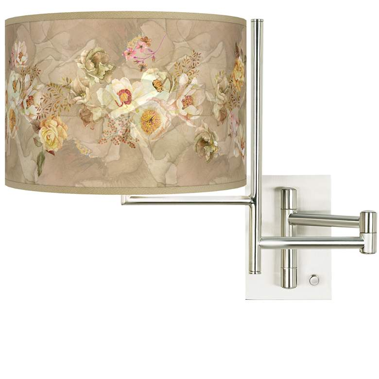 Tempo Floral Spray Plug-in Swing Arm Wall Lamp