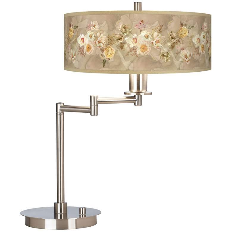 Floral Spray Giclee CFL Swing Arm Desk Lamp