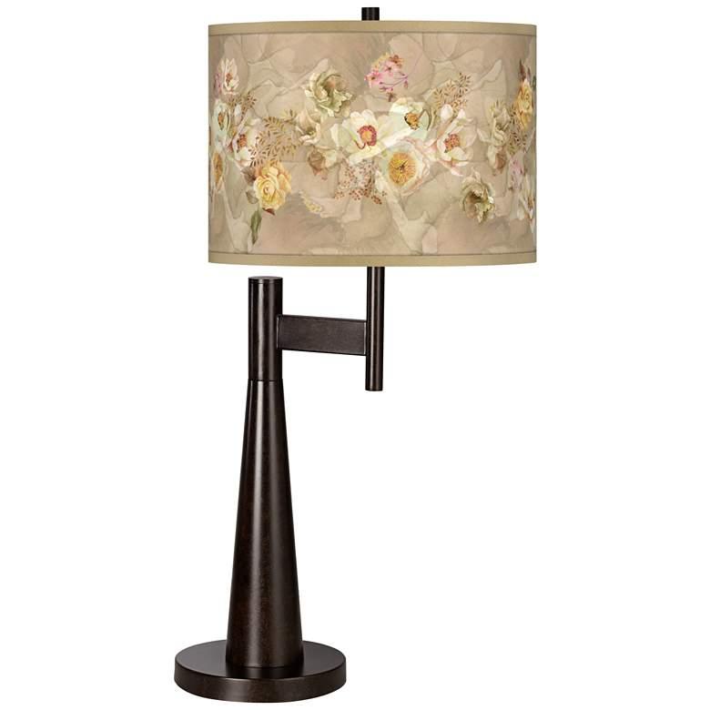 Floral Spray Giclee Novo Table Lamp