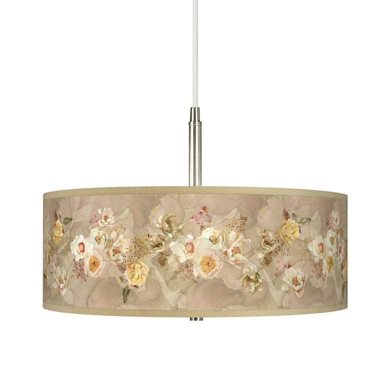 Floral Spray Giclee Pendant Chandelier