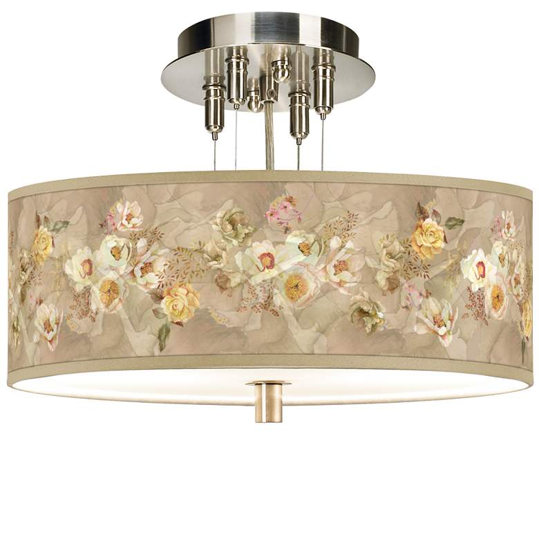 "Floral Spray Giclee 14"" Wide Ceiling Light"