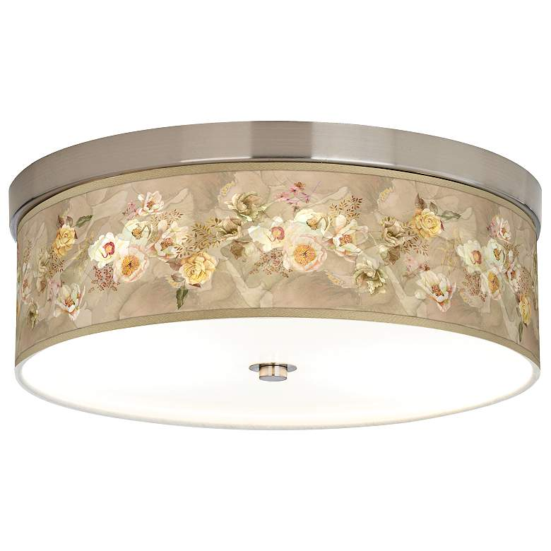 Floral Spray Giclee Energy Efficient Ceiling Light