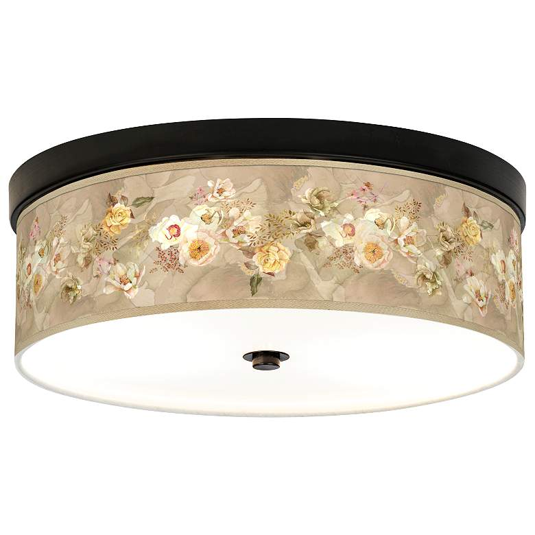 Floral Spray Giclee Energy Efficient Bronze Ceiling Light
