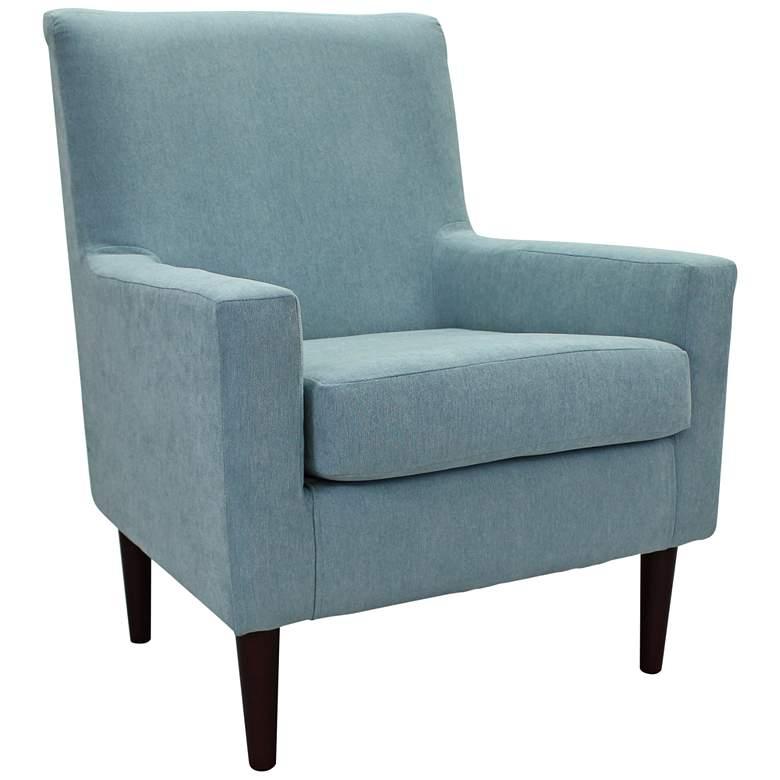 Emma Ice Blue Fabric Lounge Chair