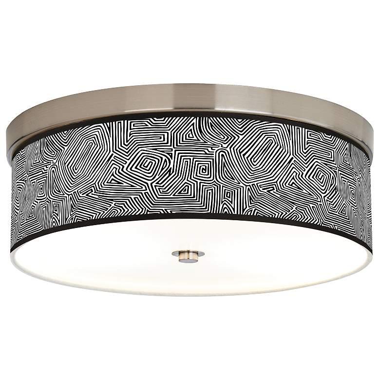 Geometric Maze Giclee Energy Efficient Ceiling Light