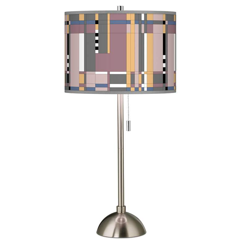 Simplicity Giclee Brushed Nickel Table Lamp