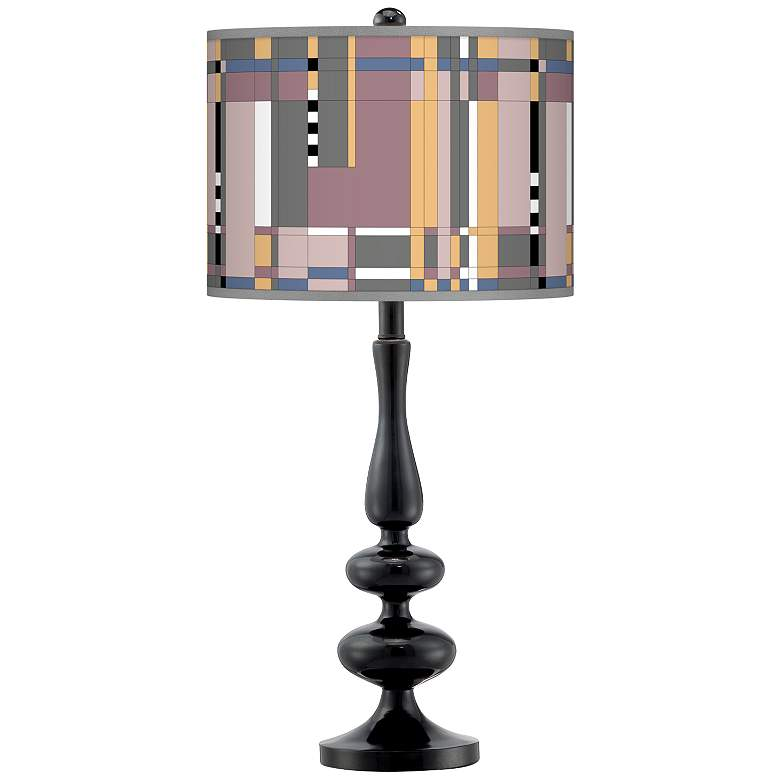 Simplicity Giclee Paley Black Table Lamp