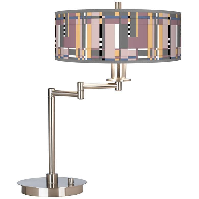 Simplicity Giclee CFL Swing Arm Desk Lamp