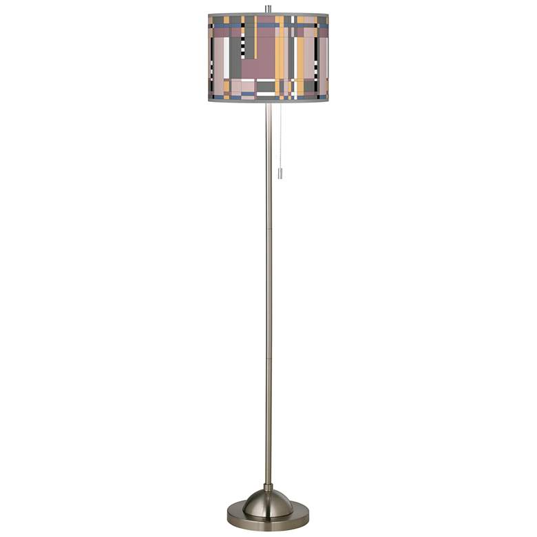 Simplicity Brushed Nickel Pull Chain Floor Lamp