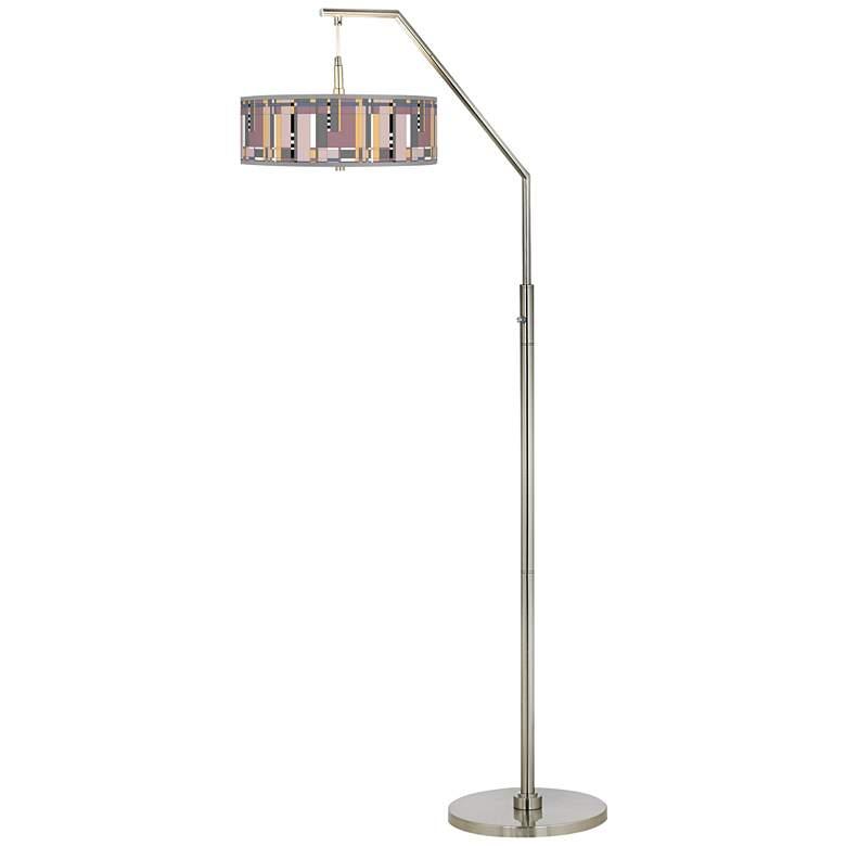 Simplicity Giclee Shade Arc Floor Lamp