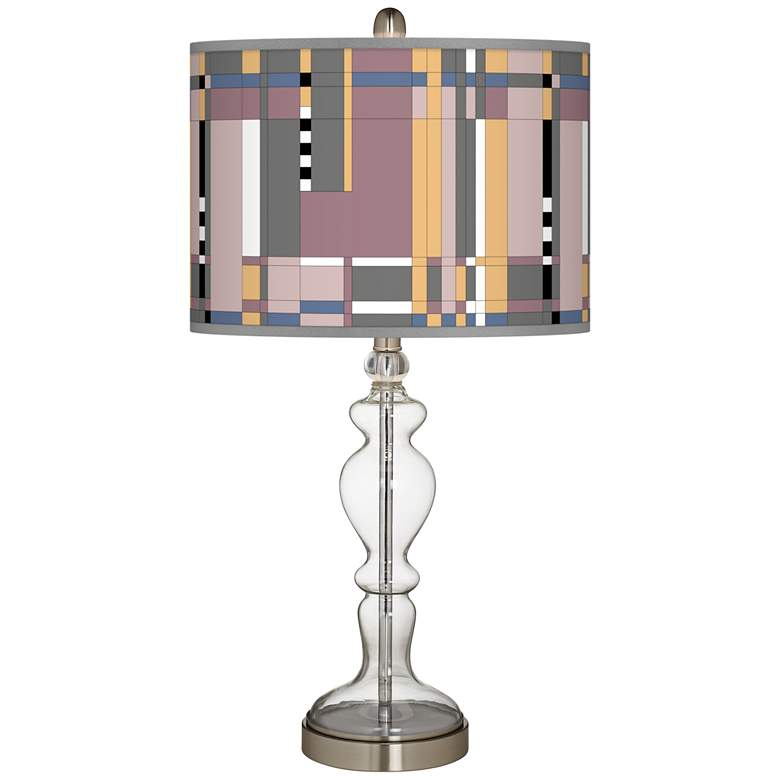 Simplicity Giclee Apothecary Clear Glass Table Lamp