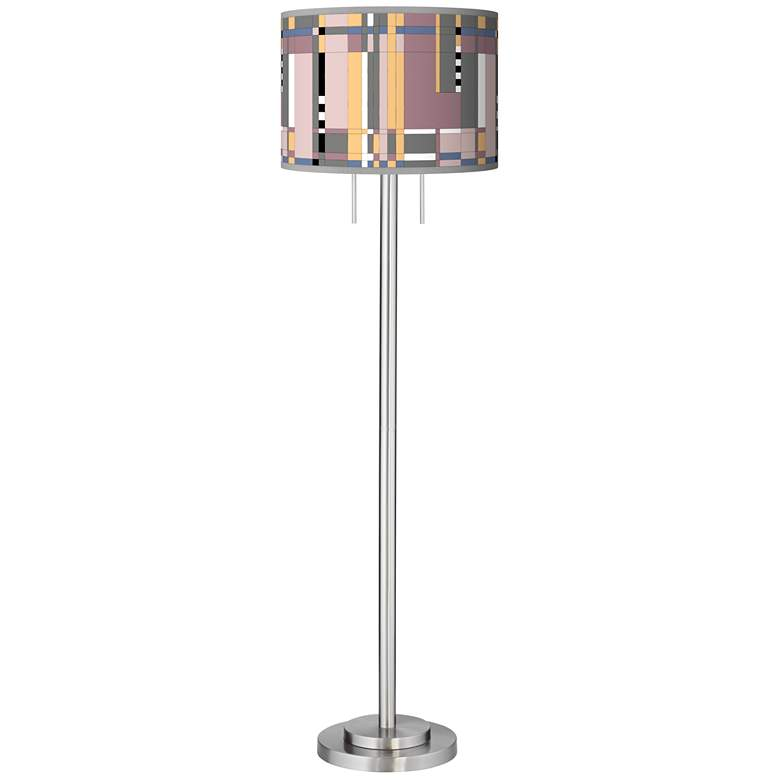 Simplicity Giclee Brushed Nickel Garth Floor Lamp