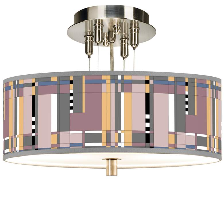 """Simplicity Giclee 14"""" Wide Ceiling Light"""