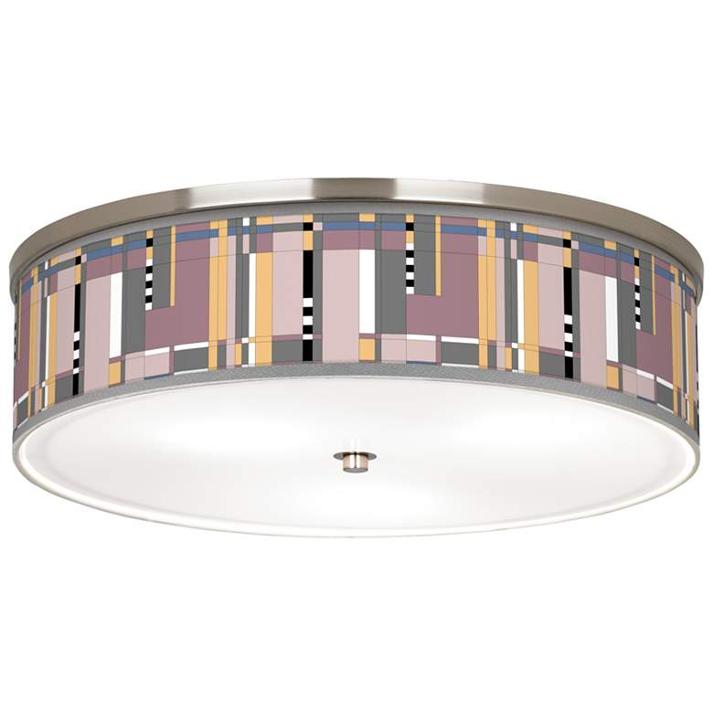 """Simplicity Giclee Nickel 20 1/4"""" Wide Ceiling Light"""