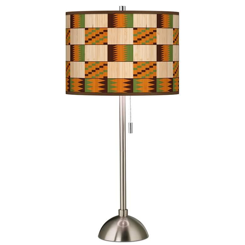 Modern Drift Giclee Brushed Nickel Table Lamp