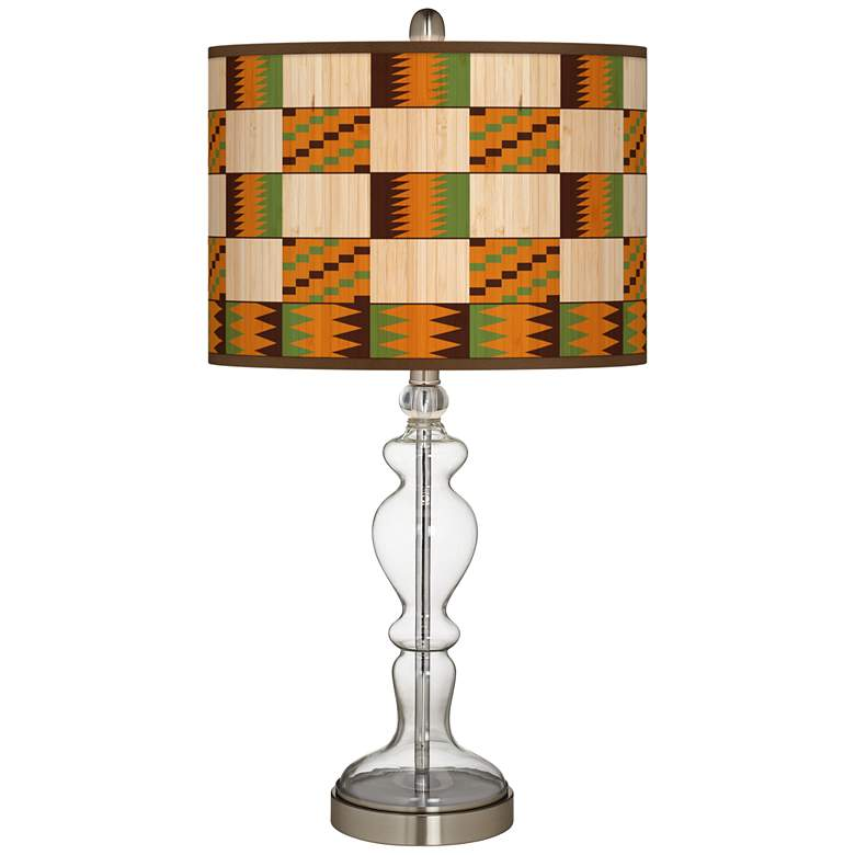 Modern Drift Giclee Apothecary Clear Glass Table Lamp