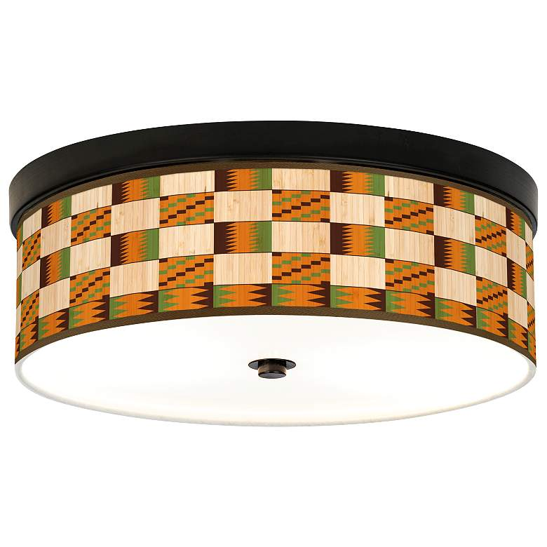 Modern Drift Giclee Energy Efficient Bronze Ceiling Light