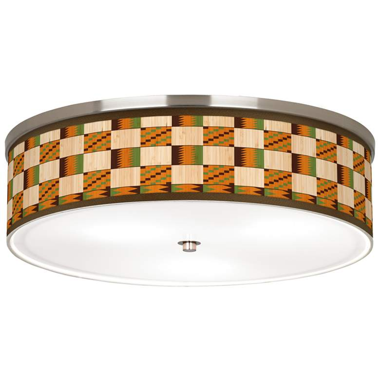 "Modern Drift Giclee Nickel 20 1/4"" Wide Ceiling Light"