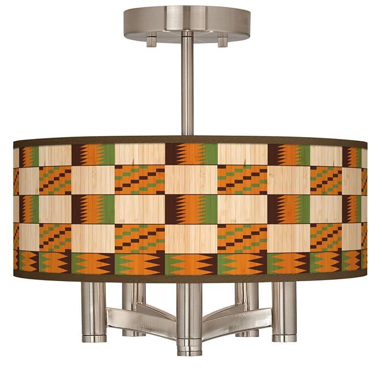 Modern Drift Ava 5-Light Nickel Ceiling Light