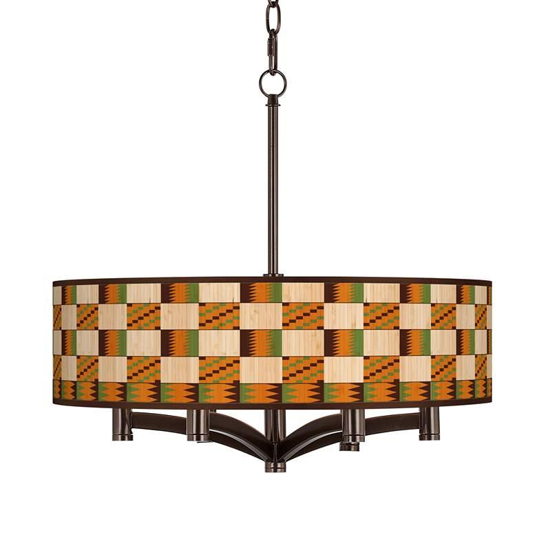 Modern Drift Ava 6-Light Bronze Pendant Chandelier