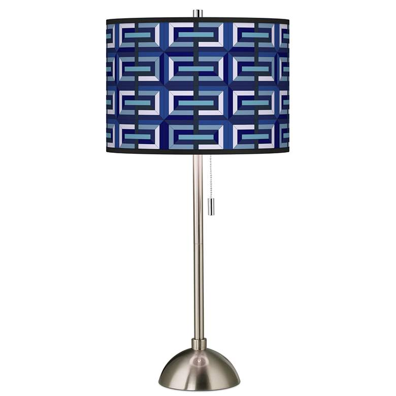 Parquet Giclee Brushed Nickel Table Lamp