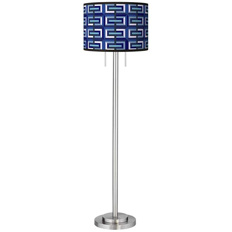 Parquet Giclee Brushed Nickel Garth Floor Lamp