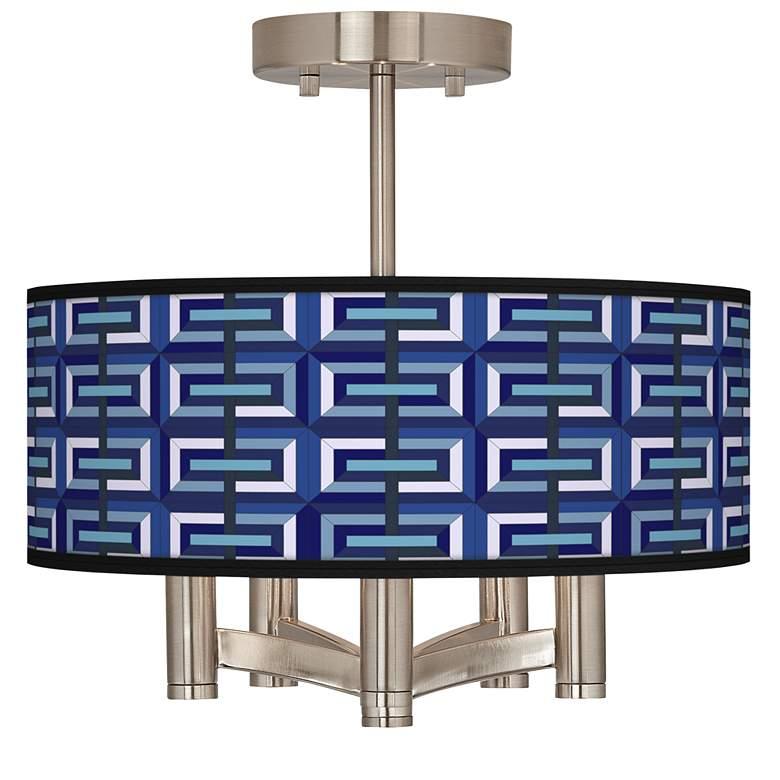 Parquet Ava 5-Light Nickel Ceiling Light