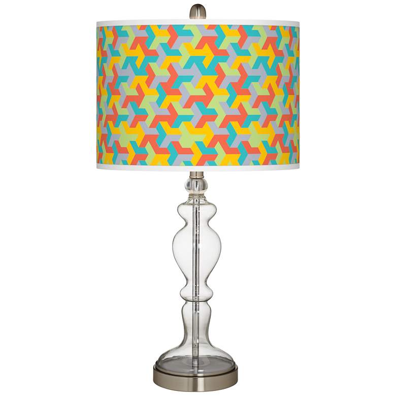Color Sprint Giclee Apothecary Clear Glass Table Lamp