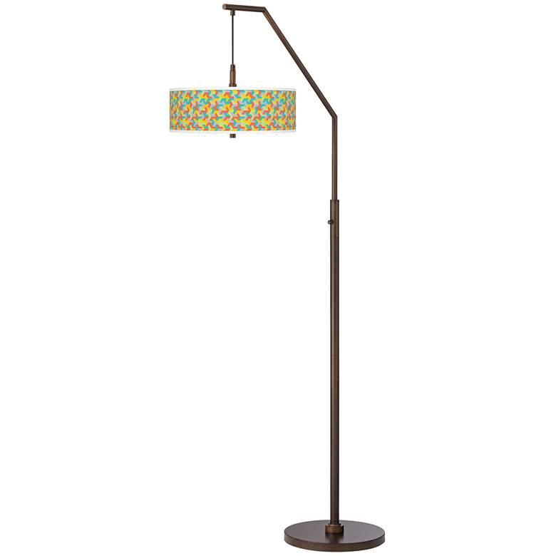 Color Sprint Bronze Downbridge Arc Floor Lamp