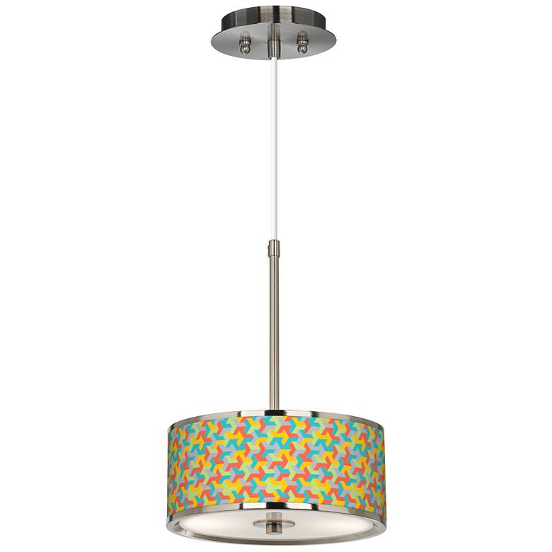 """Color Sprint Giclee Glow 10 1/4"""" Wide Pendant Light"""