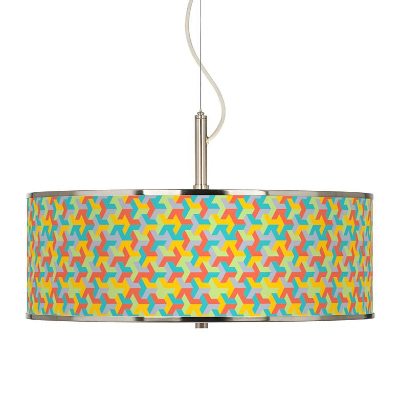 """Color Sprint Giclee Glow 20"""" Wide Pendant Light"""