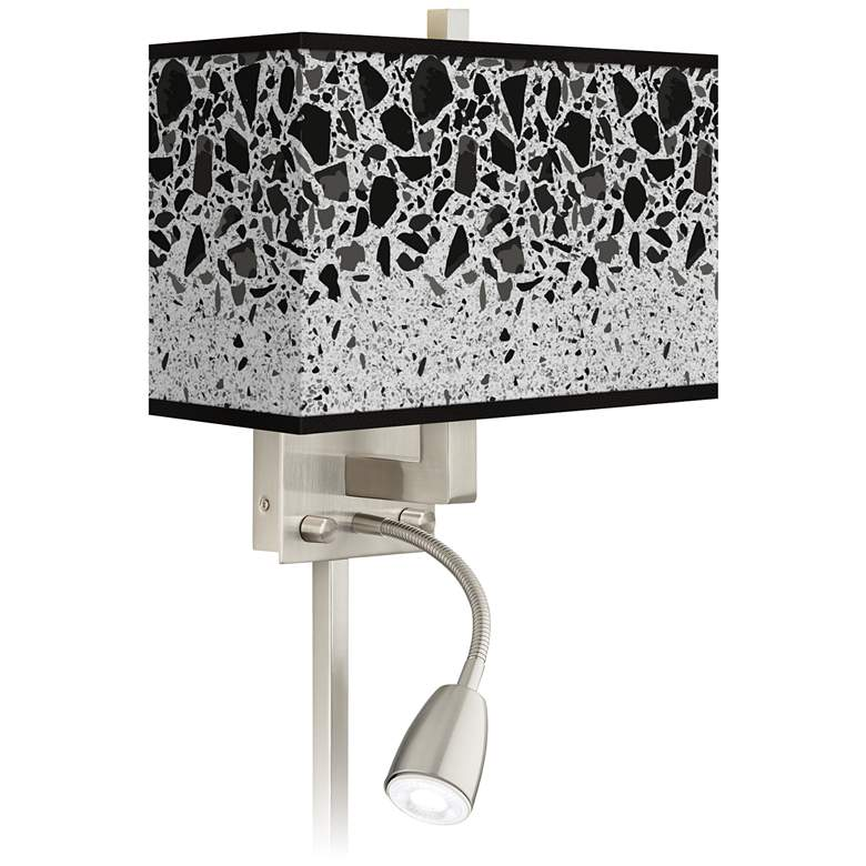Terrazzo Giclee Glow LED Reading Light Plug-In Sconce