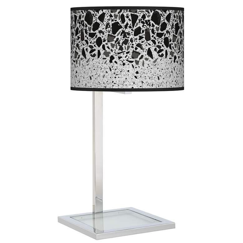 Terrazzo Glass Inset Table Lamp