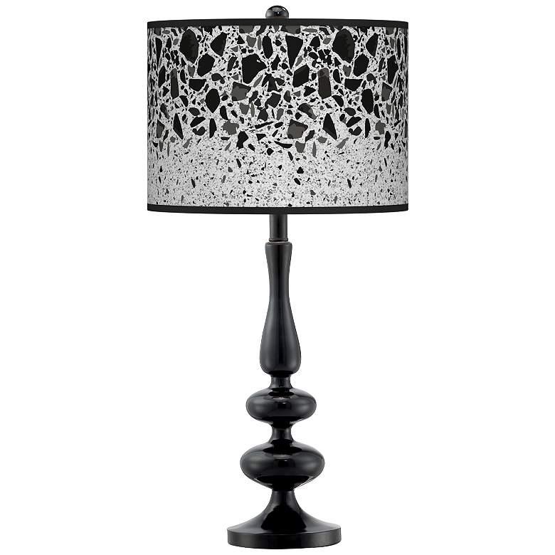 Terrazzo Giclee Paley Black Table Lamp
