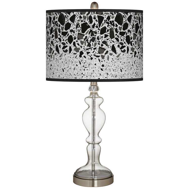 Terrazzo Giclee Apothecary Clear Glass Table Lamp