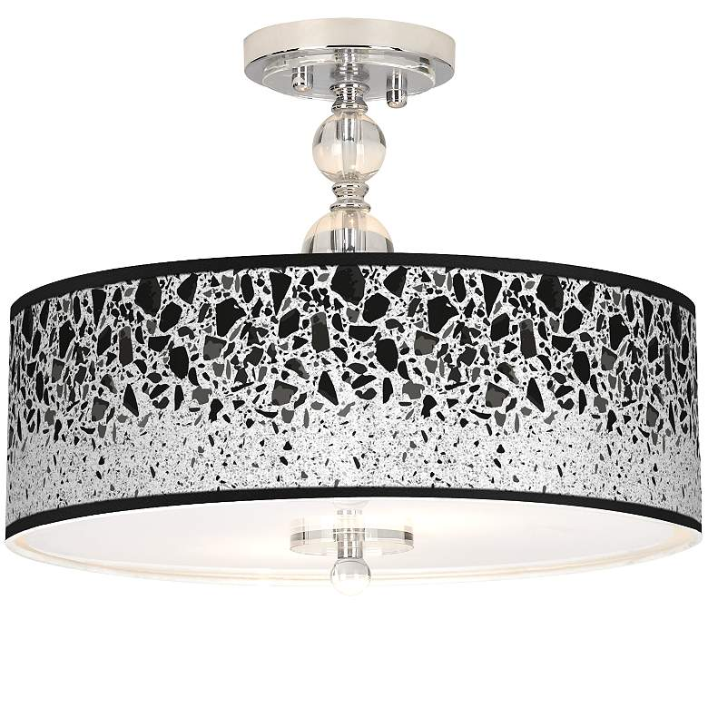 "Terrazzo Giclee 16"" Wide Semi-Flush Ceiling Light"