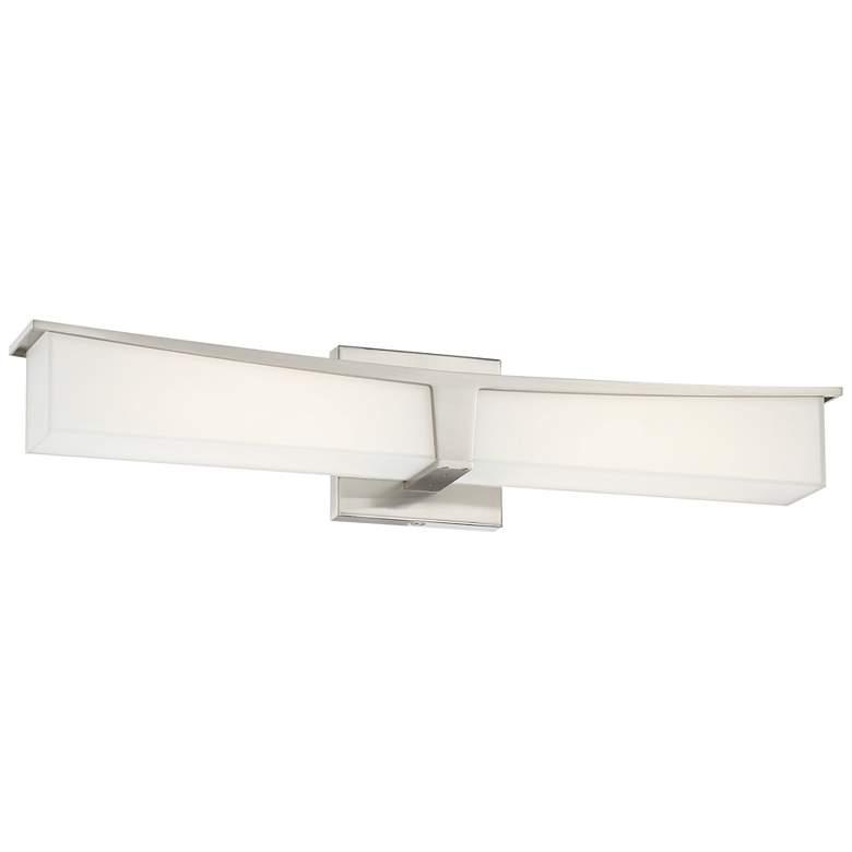 "George Kovacs Plane 25"" Wide Brushed Nickel LED Bath Light"