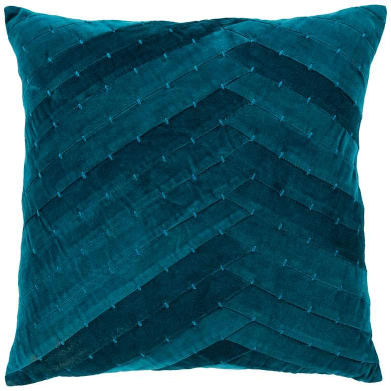 "Surya Aviana Teal and Aqua 22"" Square Decorative Pillow"