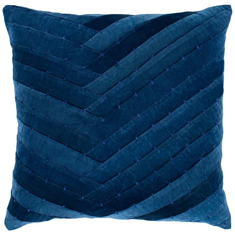 "Surya Aviana Dark Blue w/ Navy 20"" Square Decorative Pillow"