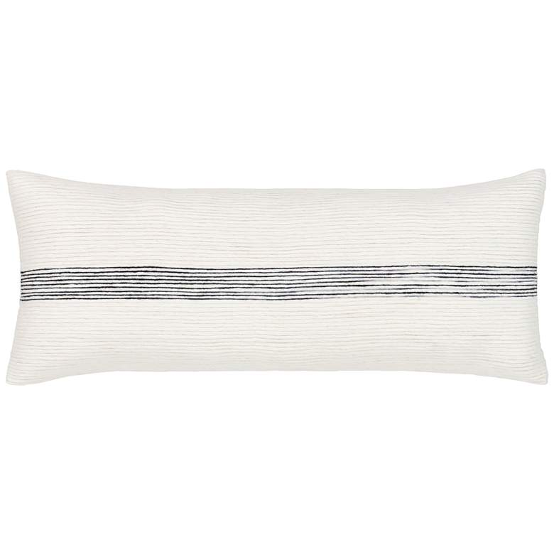 "Surya Carine Cream and Black 30"" x 12"" Decorative Pillow"
