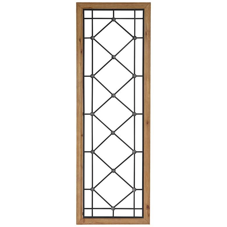 "Winston Matte Black and Brown 47 1/4"" High Window Wall Art"
