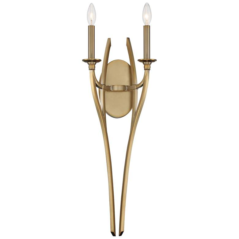 """Covent Park 27 1/2"""" High 2-Light Honey Gold Wall Sconce"""