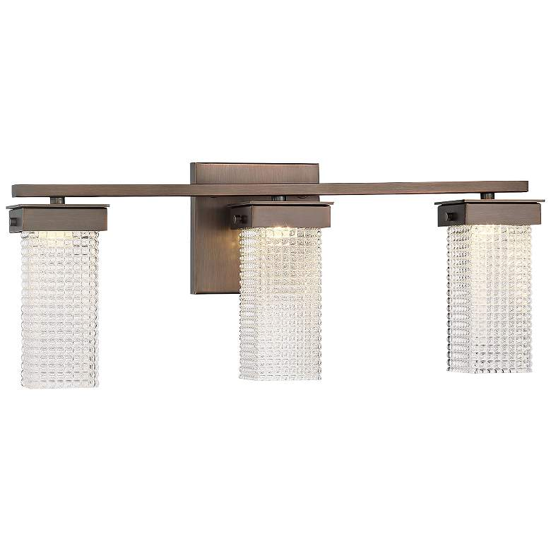 "Dewberry Lane 19 3/4"" Wide 3-Light Dark Bronze LED Bath Light"